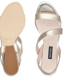 Nine West gold synthetic sandals